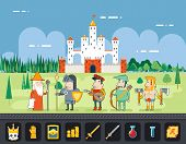 foto of fairy tail  - Flat Design Castle Cartoon Magic Fairy Tail Landscape - JPG