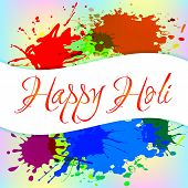 image of holi  - Colorful background with chaotic splashes and blots - JPG