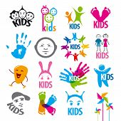 picture of big-foot  - big set of vector icons children - JPG