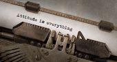 image of old vintage typewriter  - Vintage typewriter old rusty and used attitude is everything - JPG