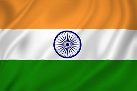 stock photo of indian flag  - India national flag background texture full frame - JPG