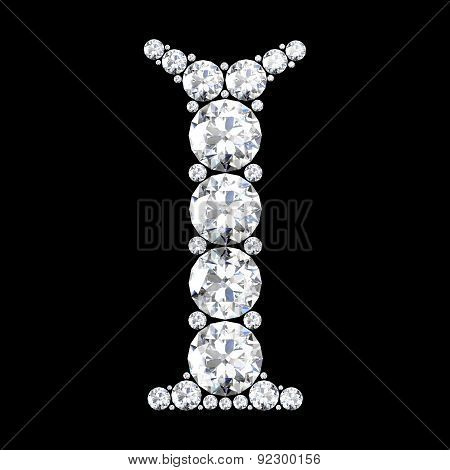 A Stunning Beautiful I Set In Diamonds