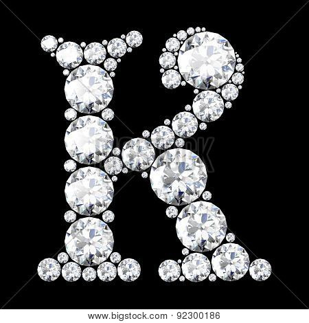 A Stunning Beautiful K Set In Diamonds