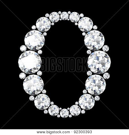 A Stunning Beautiful O Set In Diamonds
