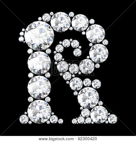 A Stunning Beautiful R Set In Diamonds