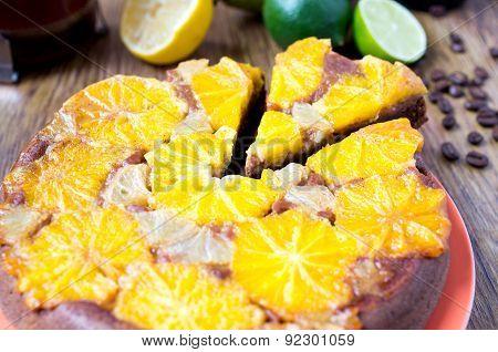 Orange Tart, Cake, Dessert