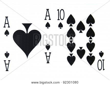 Best Classic Blackjack Combination Ten And Ace Of Spades