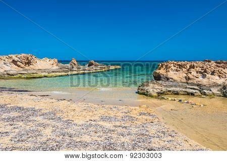 Malia Beach, Crete Island, Greece