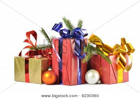 Gift And Baubles Isolated