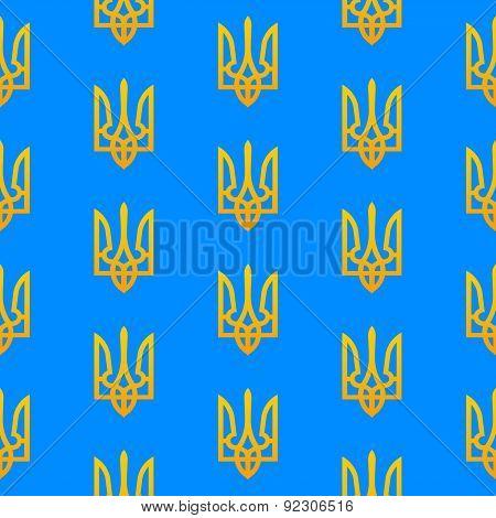 Ukranian Trident Seamless Pattern