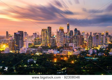 Bangkok City Skyline Downtown