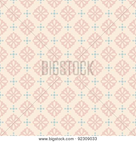 Pastel retro vector seamless pattern.