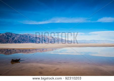 Desert Mountains Into Distance