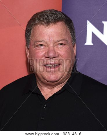 LOS ANGELES - APR 02:  William Shatner arrives to the NBCUniversal's Summer Press Day 2015  on April 02, 2015 in Hollywood, CA