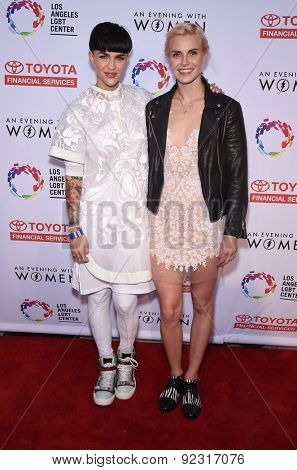 LOS ANGELES - MAY 16:  Ruby Rose & Phoebe Dahl arrives to the An Evening With Women  on May 16, 2015 in Hollywood, CA
