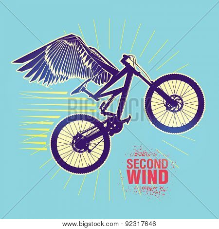 Mountain bike. Vector illustration created in topic