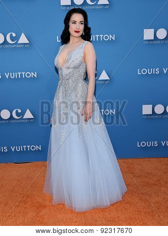 LOS ANGELES - MAY 30:  Dita Von Teese arrives to the MOCA Annual Gala 2015  on May 30, 2015 in Hollywood, CA