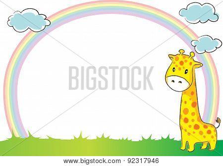 giraffee in the blank border