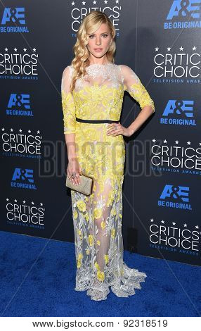 LOS ANGELES - MAY 31:  Katheryn Winnick arrives to the Critic's Choice Television Awards 2015  on May 31, 2015 in Hollywood, CA