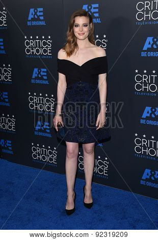LOS ANGELES - MAY 31:  Gillian Jacobs arrives to the Critic's Choice Television Awards 2015  on May 31, 2015 in Hollywood, CA