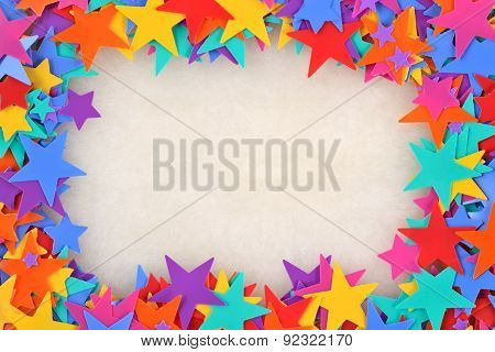 Frame Of Colorful Stars