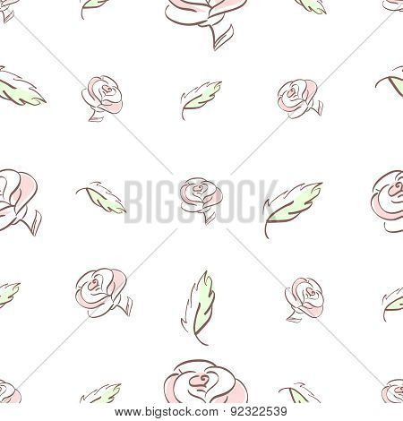 roses and leaves