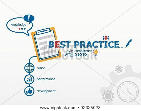Best Practice Concept And Notebook For Efficiency, Creativity, Intelligence.
