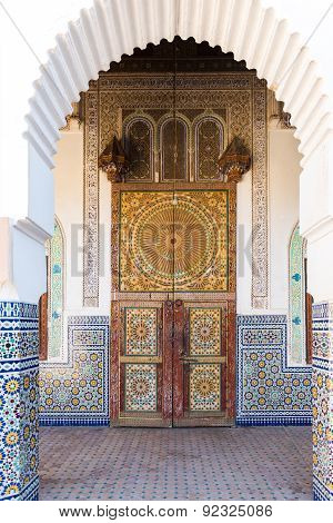 Decorated Door In Tamegroute, South Morocco