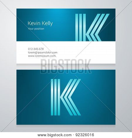 Letter K Business Card Template