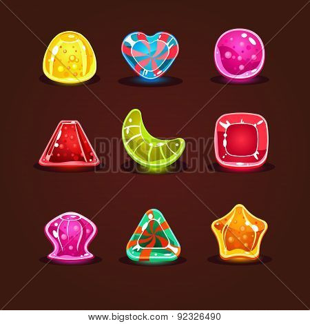 Set Of Bright Cartoon Candies