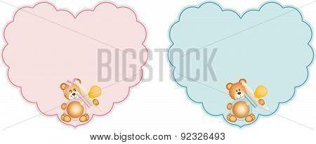 Heart baby label
