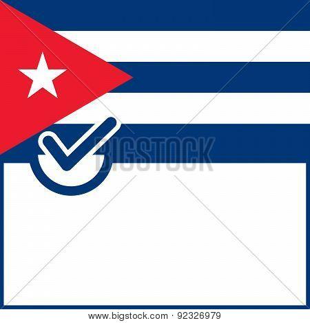 Voting Symbol Cuba Flag
