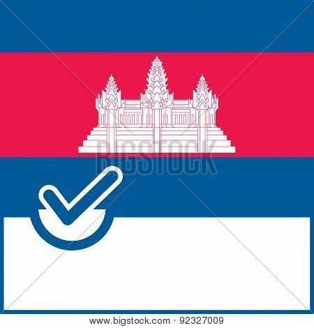 Voting Symbol Cambodia Flag