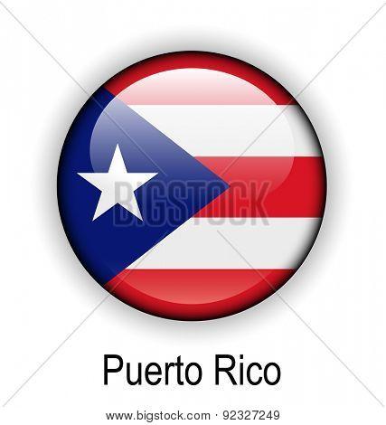 puerto rico official flag, button ball