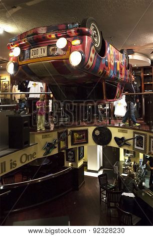 Interiors of Hard Rock Cafe Dublin
