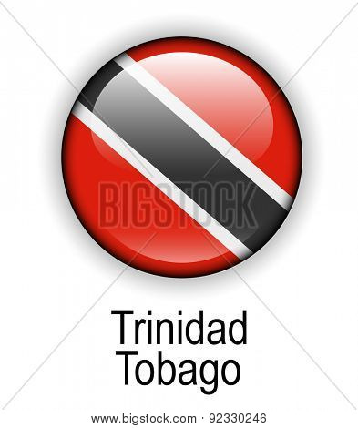 trinidad and tobago official state button ball flag