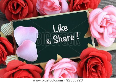 like and share message