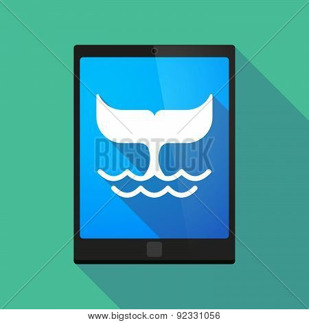Tablet Pc Icon With A Whale Tail
