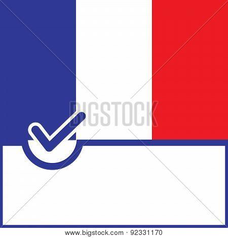 Voting Symbol France Flag