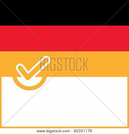 Voting Symbol Germany Flag