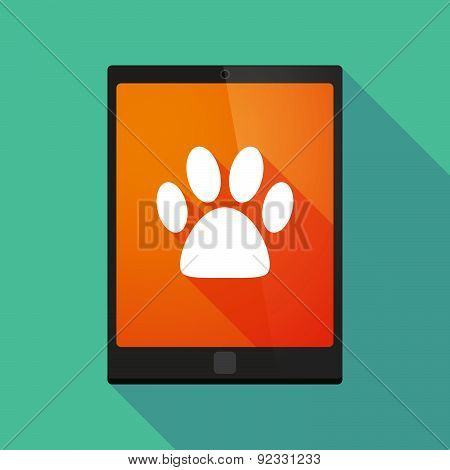 Tablet Pc Icon With A Footprint