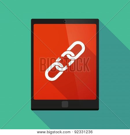 Tablet Pc Icon With A Chain