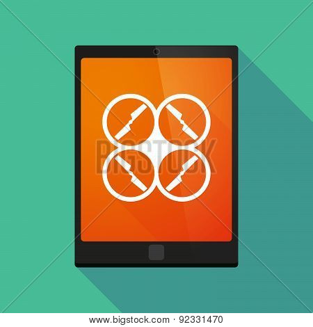 Tablet Pc Icon With A Drone