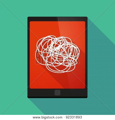 Tablet Pc Icon With A Doodle