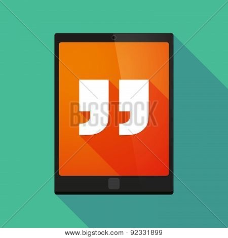 Tablet Pc Icon With Quotes
