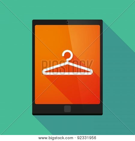 Tablet Pc Icon With A Earphones