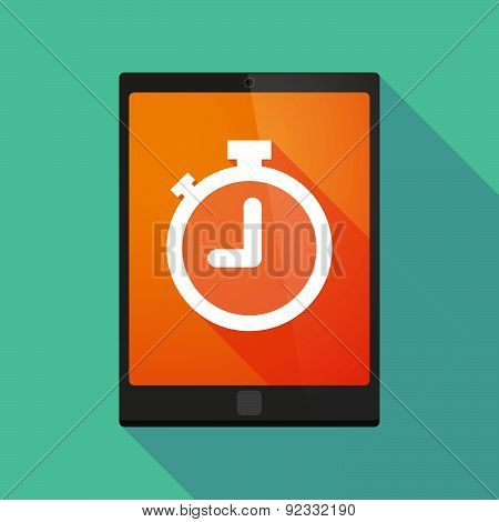 Tablet Pc Icon With A Timer