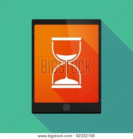 Tablet Pc Icon With A Sand Clock