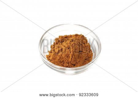 Seasoning of Curry on a white background
