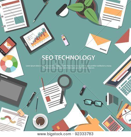 Search engine optimization web concept